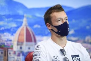 Daniil Kvyat, AlphaTauri in the press conference