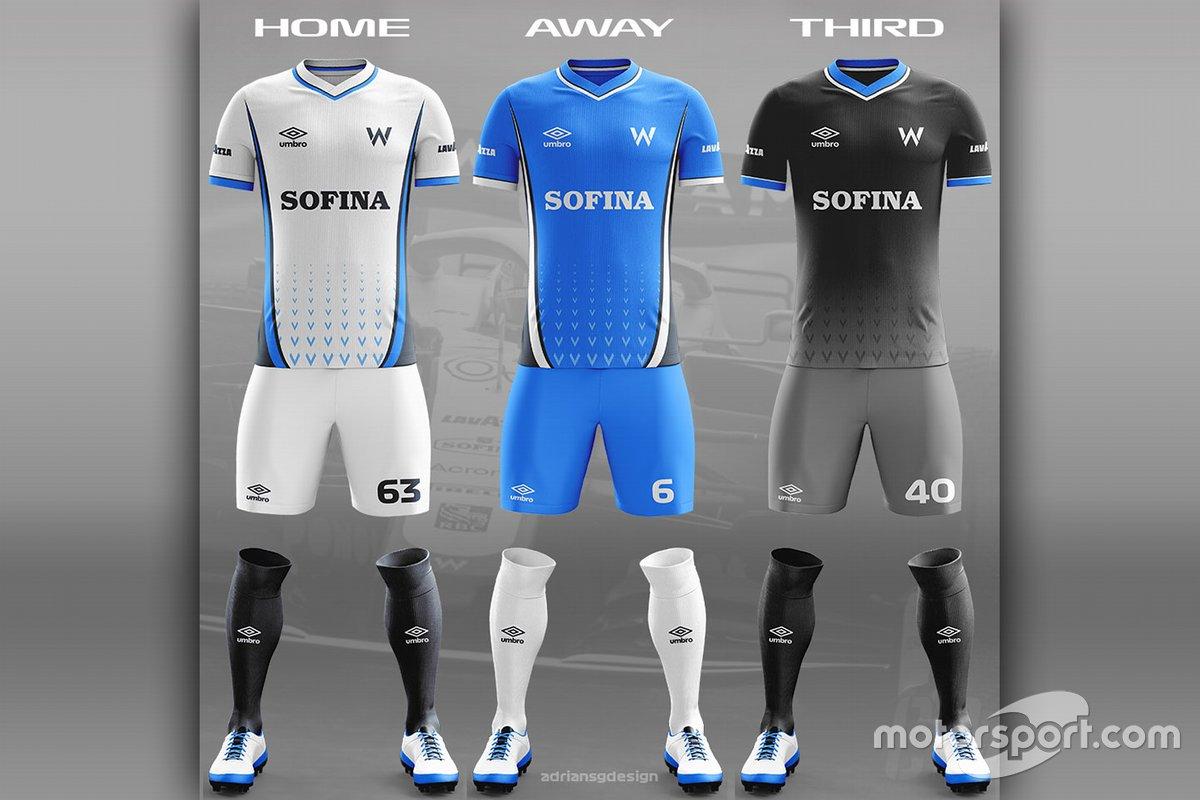 Williams F1 football team kit
