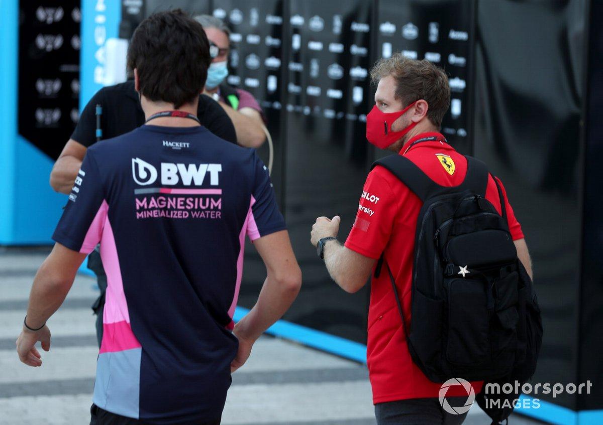Sebastian Vettel, Ferrari y Lance Stroll, Racing Point