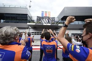 Hervé Poncharal, Red Bull KTM Tech 3, sur le podium