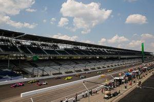 Jack Harvey, Meyer Shank Racing Honda, Tony Kanaan, A.J. Foyt Enterprises Chevrolet, Santino Ferrucci, Dale Coyne Racing with Vasser Sullivan Honda