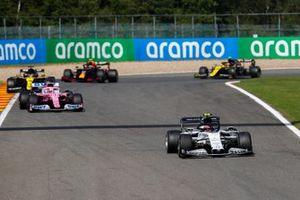 Pierre Gasly, AlphaTauri AT01, Sergio Perez, Racing Point RP20, and Daniel Ricciardo, Renault F1 Team R.S.20
