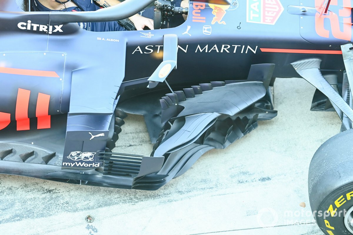 Aero bargeboard detail on the Red Bull Racing RB16