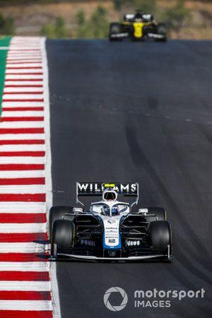 Nicholas Latifi, Williams FW43, Daniel Ricciardo, Renault F1 Team R.S.20