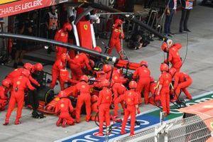 Charles Leclerc, Ferrari SF1000, makes a stop