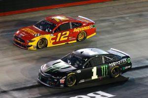 Kurt Busch, Chip Ganassi Racing, Chevrolet Camaro Monster Energy, Ryan Blaney, Team Penske, Ford Mustang Advance Auto Parts