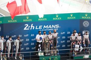 Race winner #8 Toyota Gazoo Racing Toyota TS050: Sébastien Buemi, Kazuki Nakajima, Brendon Hartley