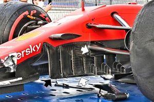 Ferrari SF1000 turning vanes