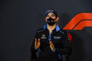 Nicholas Latifi, Williams Racing, in a Press Conference