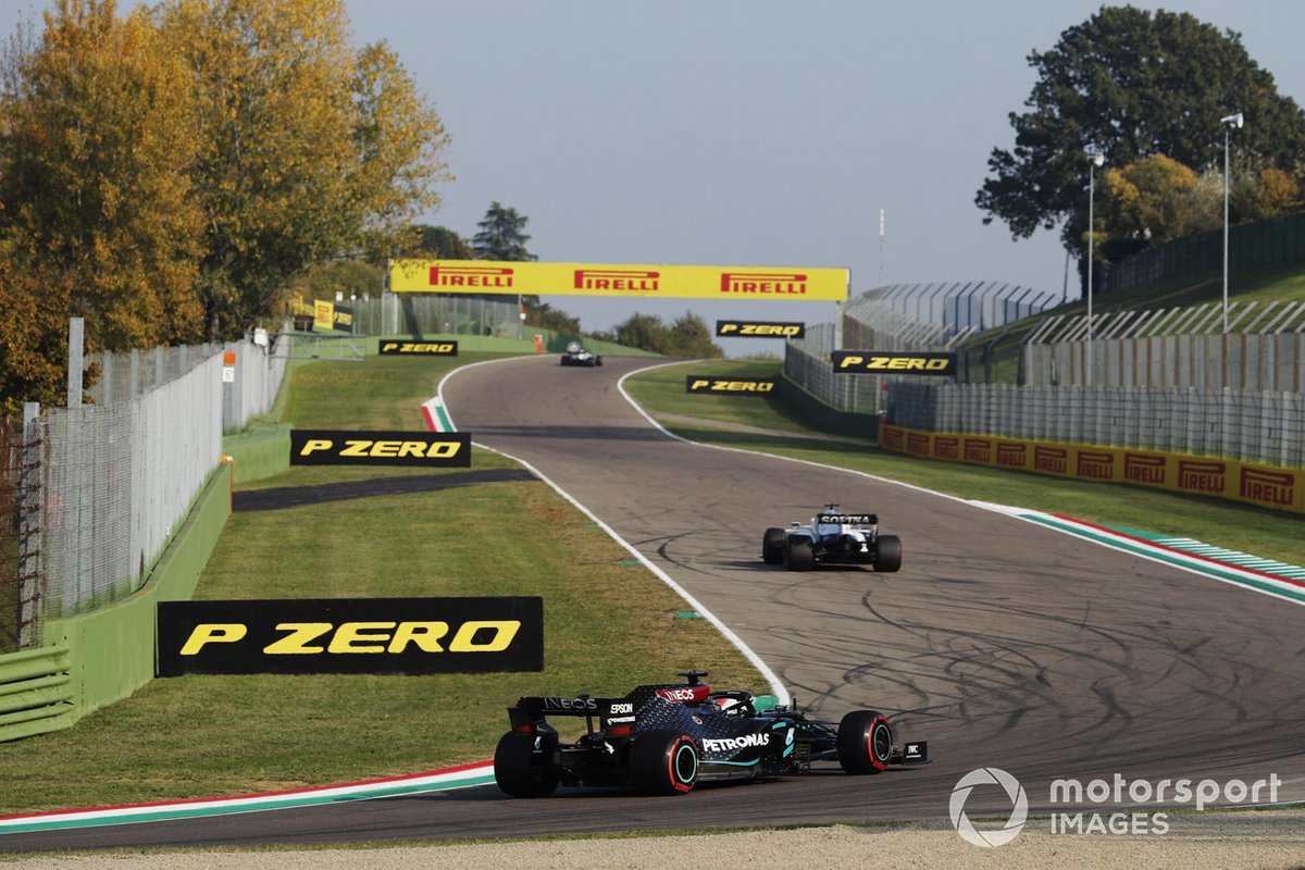 George Russell, Williams FW43, Lewis Hamilton, Mercedes F1 W11