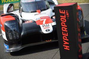 Hyperpole winning car #7 Toyota Gazoo Racing Toyota TS050: Mike Conway, Kamui Kobayashi, Jose Maria Lopez