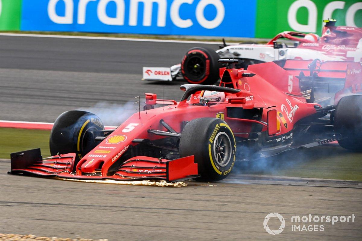 Sebastian Vettel, Ferrari SF1000, hace un trompo