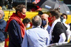 John Elkann, Presidente del Gruppo FIAT, Jean Todt, Presidente, FIA, Angelo Sticchi Damiani, Presidente, Automobile Club d'Italia, e Charles Leclerc, Ferrari