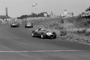 Mike Hawthorn, Ferrari D50, Juan Manuel Fangio, Maserati 250F, Peter Collins, Ferrari D50