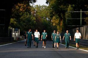 Lance Stroll, Aston Martin AMR21 track walk