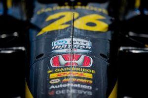 Detalle del coche de Colton Herta, Andretti Autosport w/ Curb-Agajanian Honda