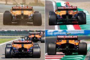 McLaren MCL35M rear cooling comparison