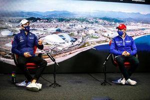Nicholas Latifi, Williams and Nikita Mazepin, Haas F1 in the Press Conference