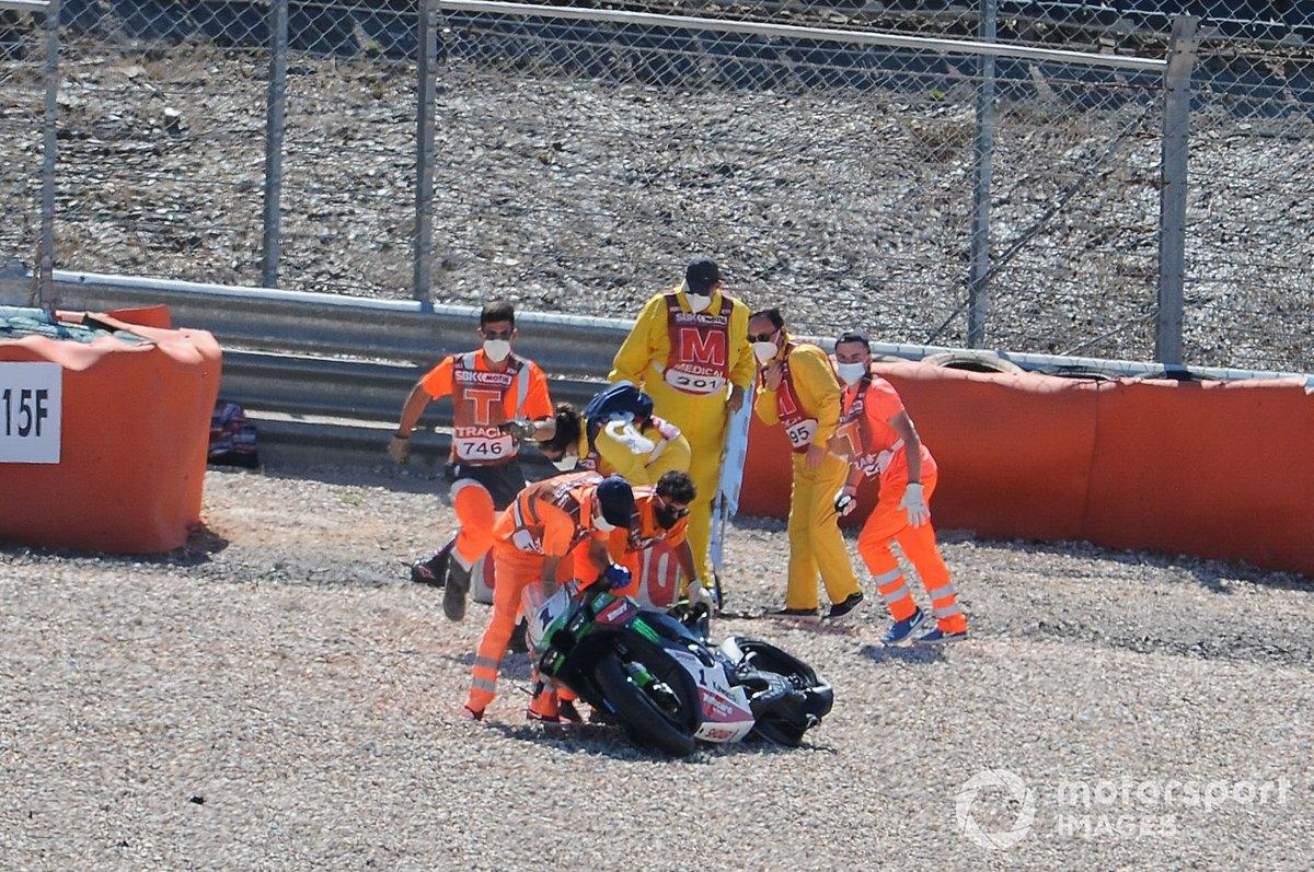Caída de Jonathan Rea, Kawasaki Racing Team WorldSBK