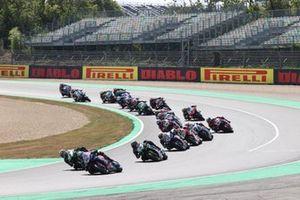 Toprak Razgatlioglu, PATA Yamaha WorldSBK Team, Jonathan Rea, Kawasaki Racing Team WorldSBK, Alex Lowes, Kawasaki Racing Team WorldSBK