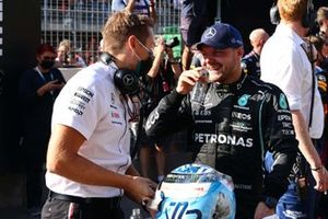 Valtteri Bottas, Mercedes, 3rd position, in Parc Ferme