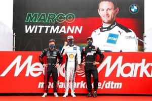 Top 3 after Qualifying 2, Pole sitter Marco Wittmann, Walkenhorst Motorsport, Lucas Auer, Mercedes AMG Team Winward, Mike Rockenfeller, Abt Sportsline