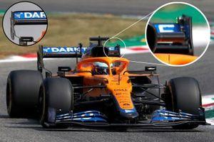 Comparación del alerón trasero del McLaren MCL35M