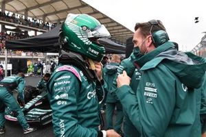 Lance Stroll, Aston Martin, op de grid