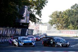 Philip Ellis, Mercedes AMG Team Winward Mercedes AMG GT3, Kelvin van der Linde, Abt Sportsline Audi R8 LMS GT3
