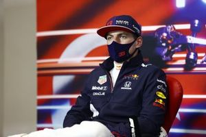 Max Verstappen, Red Bull Racing, 2a posizione, in conferenza stampa
