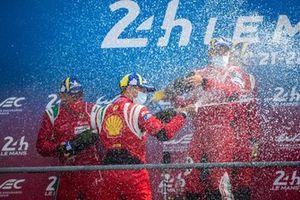 Podium LMGTE Pro : #51 AF Corse Ferrari 488 GTE EVO LMGTE Pro, Alessandro Pier Guidi, James Calado, Come Ledogar