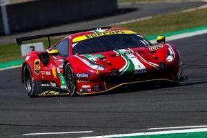 #52 AF Corse Ferrari 488 GTE EVO LMGTE Pro van Daniel Serra, Miguel Molina, Sam Bird
