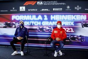 Nicholas Latifi, Williams and Charles Leclerc, Ferrari in the press conference