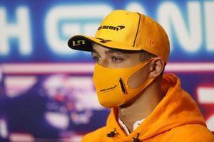 Lando Norris, McLaren at the press conference