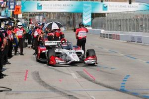 Takuma Sato, Rahal Letterman Lanigan Racing Honda, et des membres de son équipe