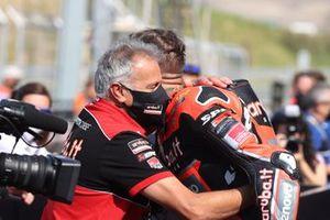 Polesitter Scott Redding, Aruba.It Racing - Ducati, mit Serafino Foti