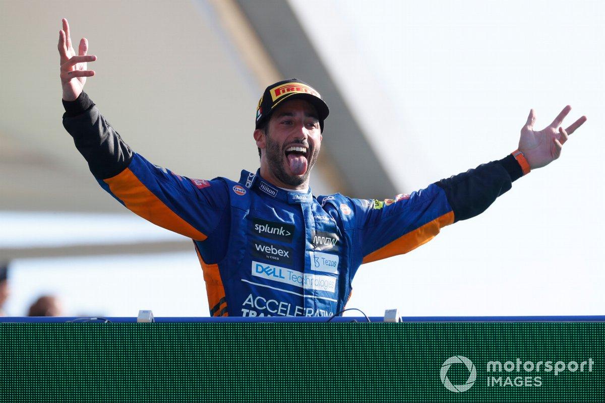 Podio: ganador Daniel Ricciardo, McLaren