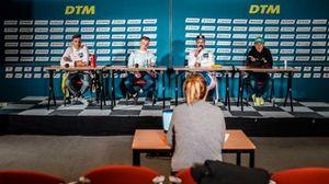 Conférence de presse, Sheldon van der Linde, ROWE Racing, Liam Lawson, AF Corse, Maximilian Götz, Haupt Racing Team, Christian Klien, JP Motorsport