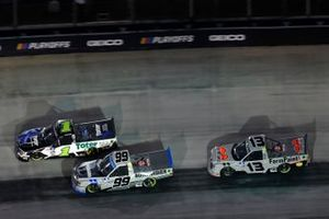 Hailie Deegan, Team DGR, Ford F-150 Toter/Engine Ice, Ben Rhodes, ThorSport Racing, Toyota Tundra Bombardier LearJet 75 and Johnny Sauter, ThorSport Racing, Toyota Tundra FarmPaint.com