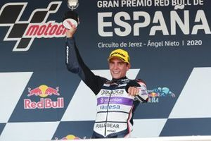 Podium: race winner Albert Arenas, Aspar Team