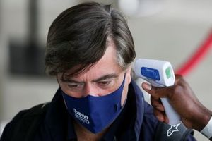 Andy Stevenson, Sporting Director, Racing Point is temperature checked