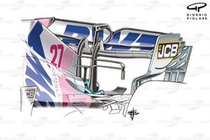 Racing Point RP20 rear wing, 70th Anniversary GP