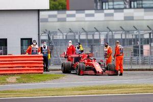 Sebastian Vettel, Ferrari SF1000 retires from the session