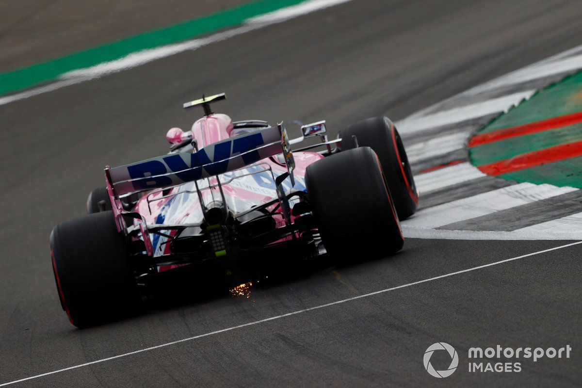 Lance Stroll, Racing Point RP20 sacando chispas