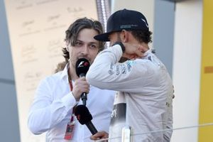 Alex Popov, RTR commentator, conducted the podium interviews