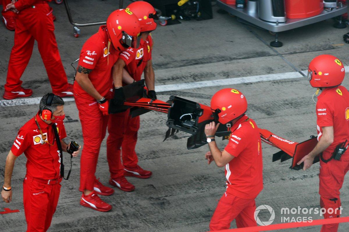 Ferrari practica los pitstops