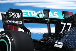 Valtteri Bottas, Mercedes F1 W11 rear wing detail