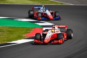 Mick Schumacher, Prema Racing , leads Robert Shwartzman, Prema Racing