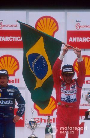 Ayrton Senna, McLaren, Riccardo Patrese, Williams, GP del Brasile del 1991