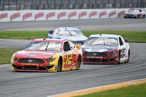 Ryan Blaney, Team Penske, Ford Mustang Advance Auto Parts, Brad Keselowski, Team Penske, Ford Mustang Wabash
